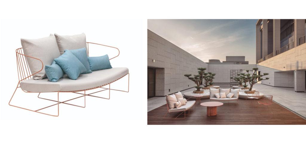 canapea modernă pentru terasă