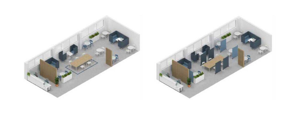 Mobilier office pentru zonele de socializare