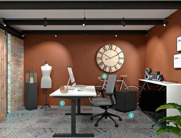 Chairry amenajare birou modern stil industrial