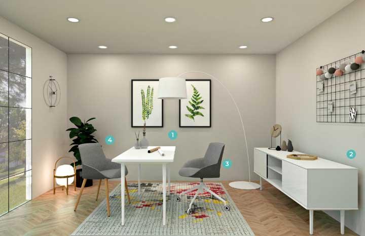 Chairry amenajare birou modern stil minimalist