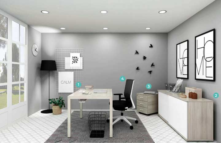 Chairry amenajare birou modern stil nordic