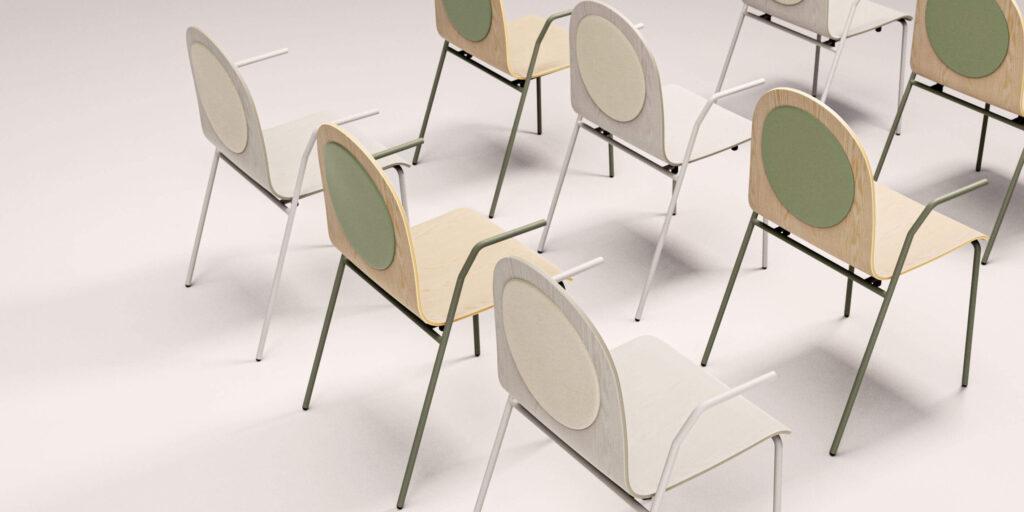 scaun iconic pentru sala de training