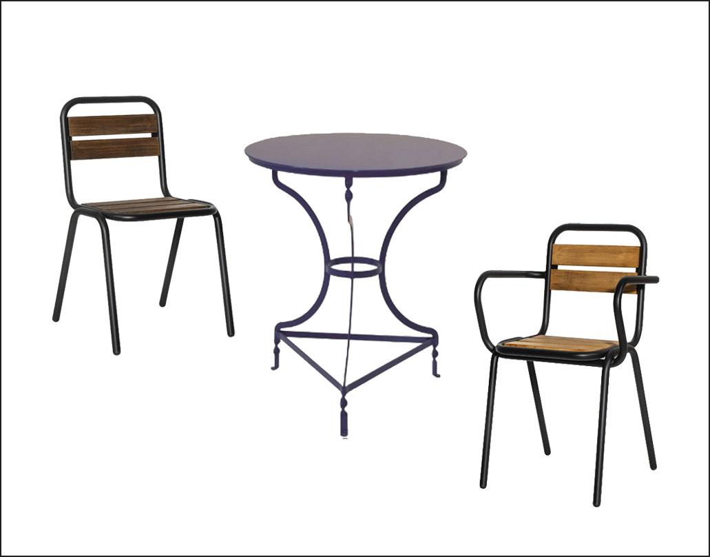 mobilier metalic pentru bistro