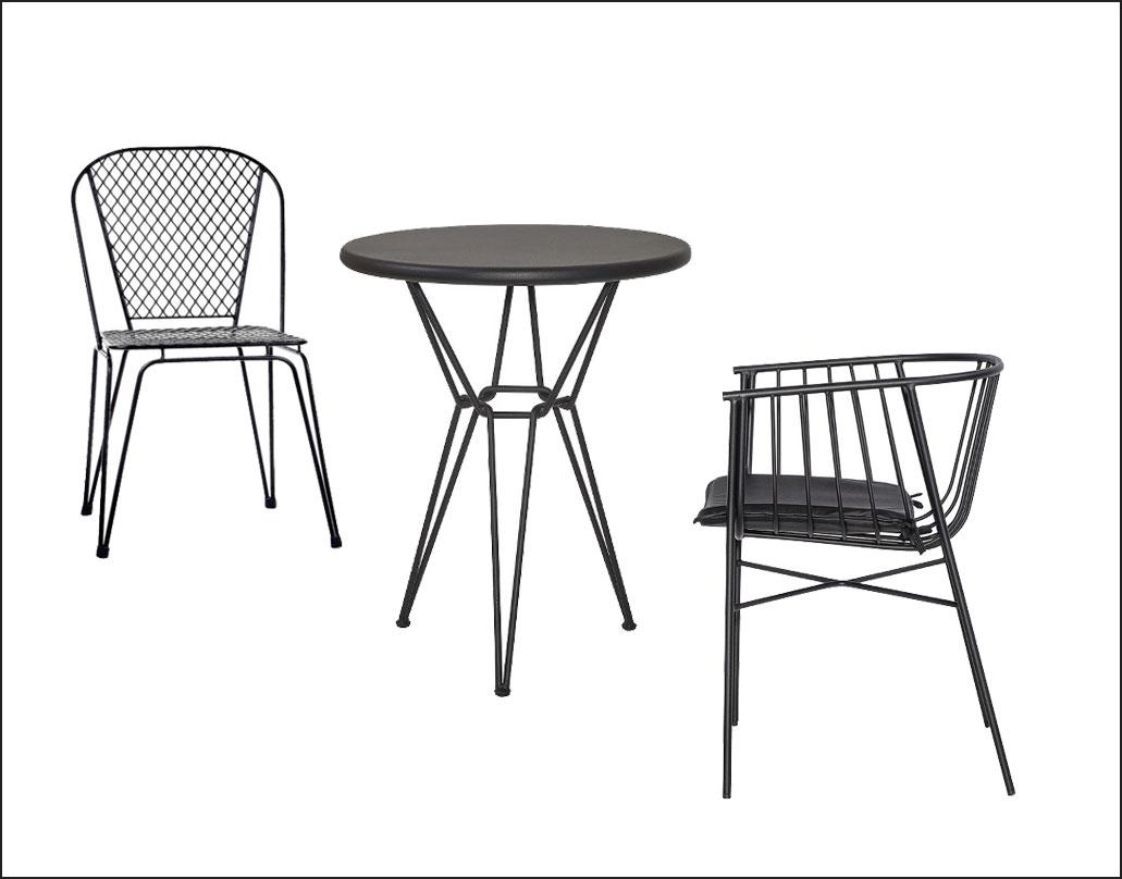 mobilier metalic pentru terasa