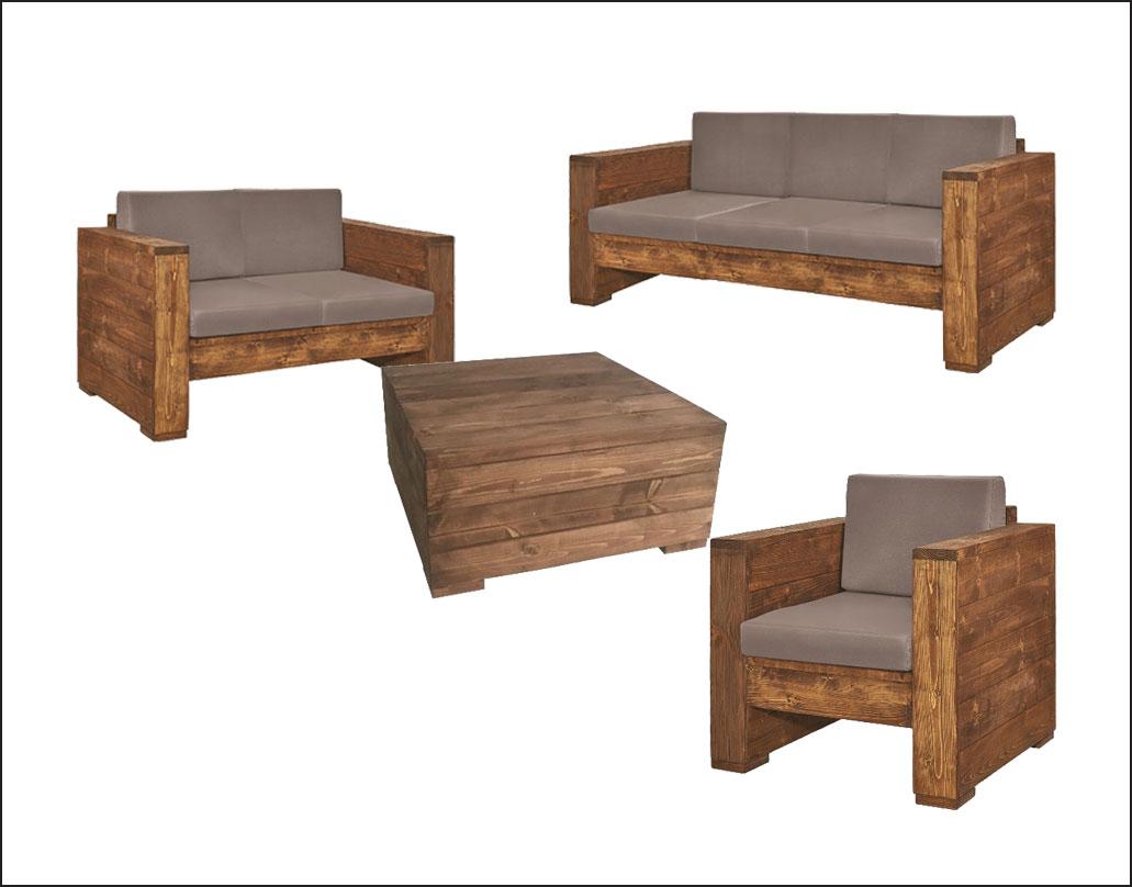 mobilier din lemn gradina de vara